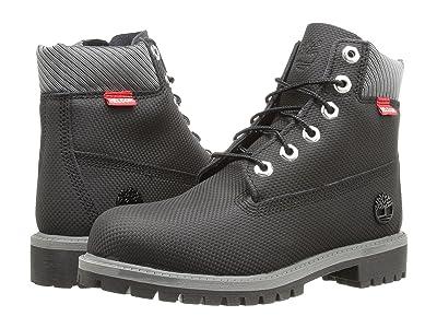 Timberland Kids 6 Premium Waterproof Boot Core (Big Kid) (Black Relief Helcor) Boys Shoes