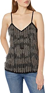 Haute Hippie Women's Cami With Beaded Fringe