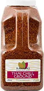 Ground Thai chili l (bird's eye chili) Authentic freshly ground Thai spice for the best Thai food. Use in Thai soups, pad thai, and Korean, Malaysian, Vietnamese, and other southeast Asian foods.