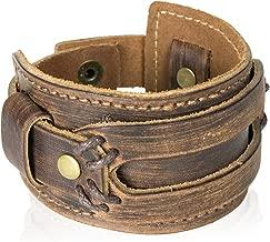 High Comfort Genuine Leather Cuff Bracelet - Mens