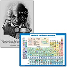 Palace Learning Periodic Table of Elements Poster & Albert Einstein Quote (18 x 24, Laminated)