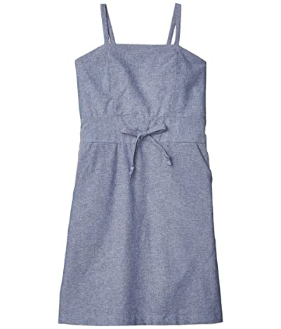 fiveloaves twofish Lucia A-Line Dress (Big Kids) (Denim) Girl