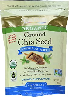 Spectrum Essentials, Organic Ground Chia Seeds, 10 Ounce