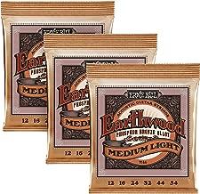 Ernie Ball Earthwood Phosphor Bronze Medium Light (12-54) 3-Pack Acoustic Guitar Strings (P03446)