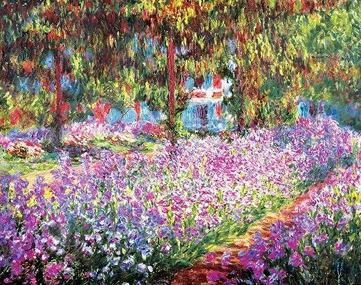 Innenrahmen 12x16in YCCYI K/ünstlergarten von Monet Flowers Leinwand Malerei Kalligraphie Poster Drucke Wohnzimmer Wandkunst Malerei Home Decor Bild 30x40cm