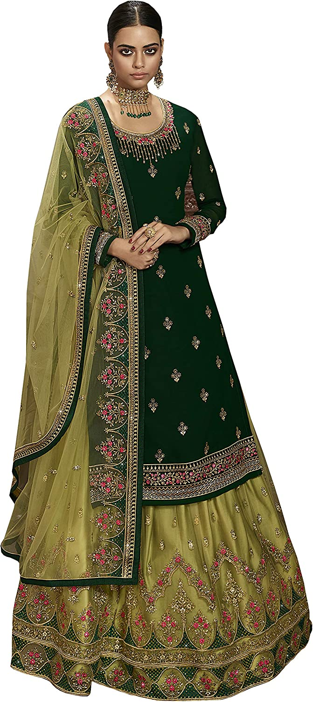 STELLACOUTURE Women's Designer Indian Wear & Ethnic Wear ghaghra Salwar Suit 6101-O