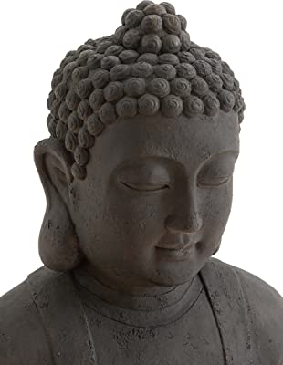 Deco 79 Table Top Polystone Buddha Sculpture, 31 by 26-Inch