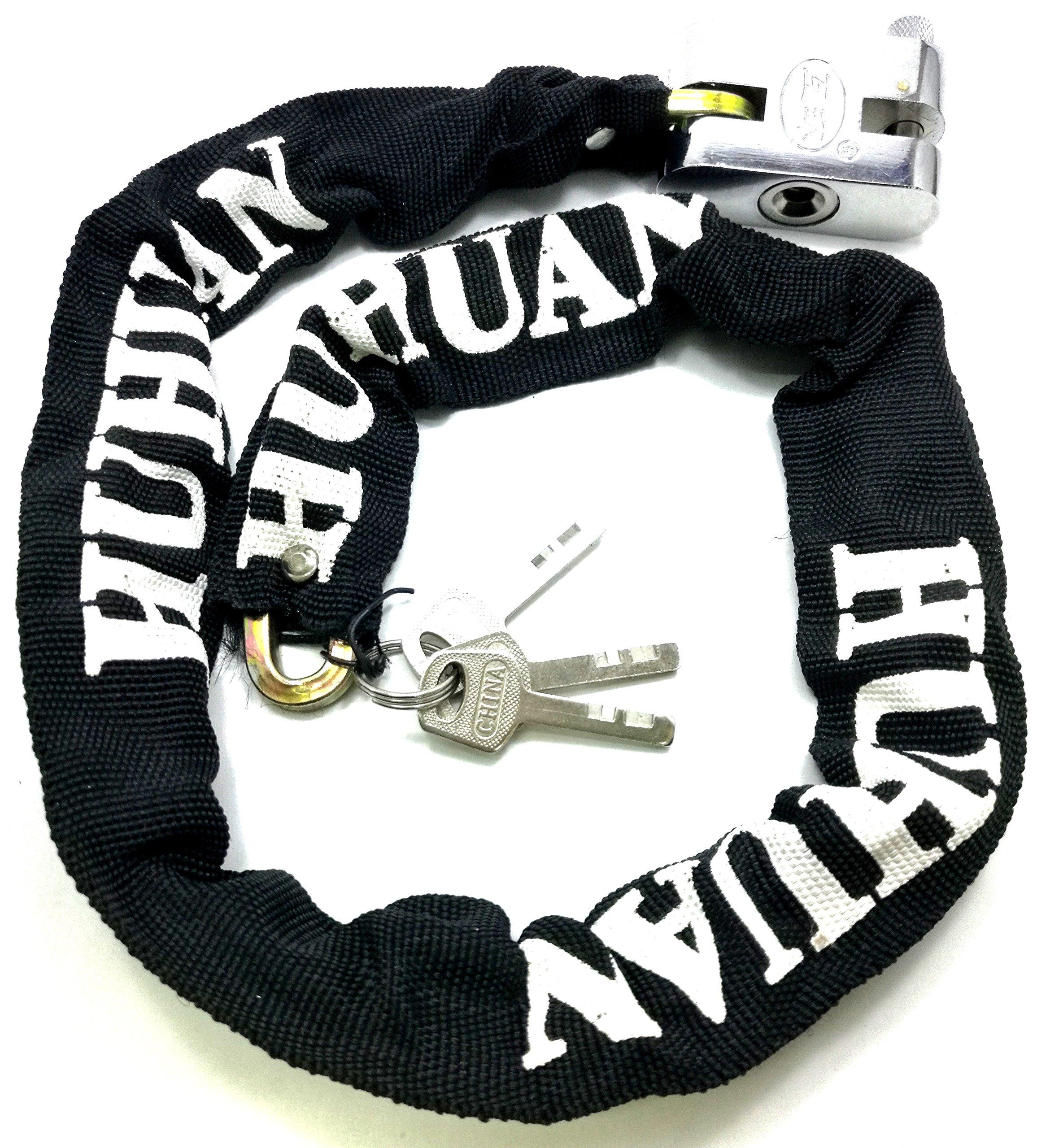 TriEcoWorld moto y bicicleta cadena de seguridad Lock Candado 100cm (1 Metro): Amazon.es: Bricolaje y herramientas