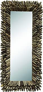 Creative Co-op Large Rectangle Driftwood Framed Mirror