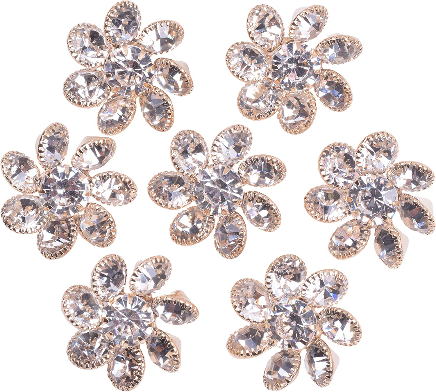 KAOYOO 10PCS Metal Crystal Rhinestone Golden Max 54% OFF Topics on TV Buttons Platin with