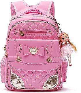 Zaino serie adorabile principessa bambola scuola zaino per ragazza scuola elementare (Rosa, L)