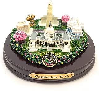 Oval Washington, D.C. Monuments Desk Statue (5