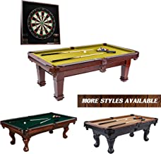 """Barrington Hatherley Premium Billiard Pool Table, 100"""", with Dartboard Set - Wood Billiards, Pool, Snooker Game Tables and Darts Cabinet for Home, Bar, Lounge, Rec Room - Durable, Professional Quality"""