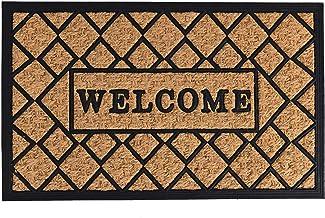 "Achim Home Furnishings, Brown Coco Mat Criss Cross, 18"" x 30"""