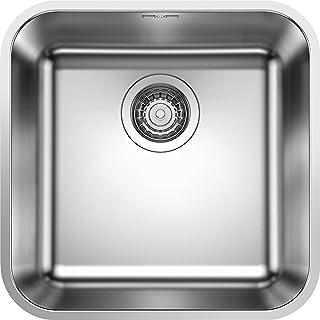 BLANCO LEMIS 6 S-IF - Edelstahlspüle für die Küche für 60 cm breite Unterschränke - Mit IF-Flachrand und Restebecken - 523033