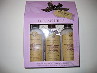 tuscan hills french lavender body care set