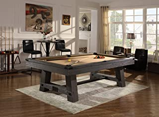 Playcraft Yukon River 8' Pool Table, Weathered Fieldstone Finish – 21 Oz. Wool Blend Billiard Cloth Offered in 21 Colors