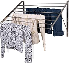 brightmaison Clothes Laundry Drying Rack Heavy Duty Stainless Steel Wall Mounted Folding Adjustable Collapsible Space Save...