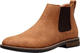JOUSEN Men's Chelsea Boots Suede Casual Boot Elastic Ankle Boot for Men