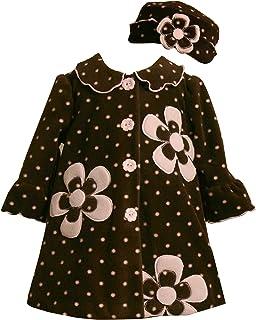 Bonnie Baby Flower Print Winter Fleece Coat