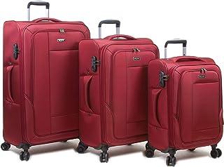 Dejuno Twilight Lightweight Nylon 3-Piece Spinner Luggage Set