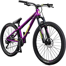 Mongoose Fireball Hardtail Mountain Bike Line with 26-Inch Wheels and Tectonic T1 Aluminum Frame, for Slope Style or Trail Riders (Renewed)