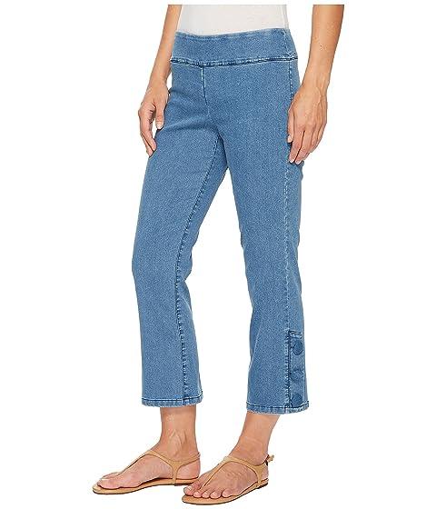 con de cubierto pantalón stretch azul denim Elliott botón Lauren indigo corto t6fqw6SY