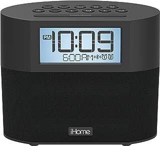 iHome iBT231 Bluetooth Dual Alarm FM Clock Radio with Speakerphone and Dual USB Charging