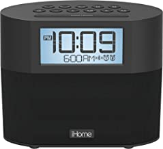 iHome iBT231 Bluetooth Dual Alarm FM Clock Radio with Speakerphone and Dual USB Charging