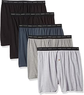 Men's 5-Pack Exposed Waistband Knit Boxers