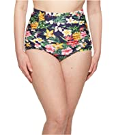 Unique Vintage Plus Size Monroe High-Waist Swim Bottom