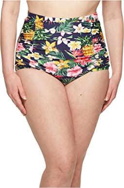 Unique Vintage - Plus Size Monroe High-Waist Swim Bottom