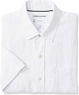 Amazon Essentials Men's Slim-Fit Short-Sleeve Linen Shirt