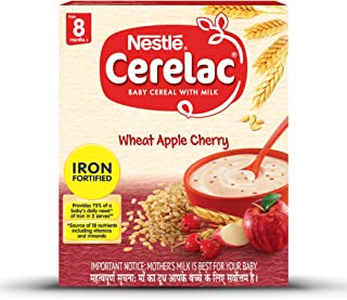 Nestlé Cerelac Infant Cereal Stage-2 (8 Months-24 Months) Wheat Apple Cherry 300g