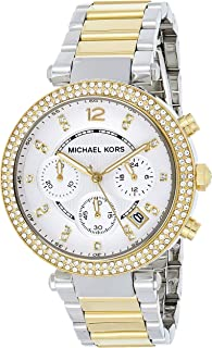 Michael Kors Women's 39mm Two-Tone Gold and Silver Parker Watch