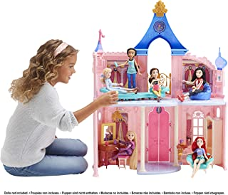 Disney Princess Castle, Doll House and 16 Accessories with 6 Pieces of Furniture (Amazon Exclusive)