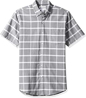 Amazon Essentials Regular-Fit Short-Sleeve Solid Pocket Oxford Shirt Hombre