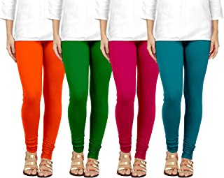 -Multiple Colors-9-10 Years Indistar Big Girls Cotton Full Ankle Length Solid Leggings Pack of 3