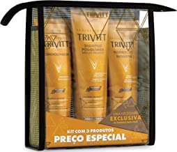 3 Piece Hair Care Kit with Shampoo 280ml, Conditioner 250ml and Intensive Moisturizing Cream 250ml for Restoration System for Chemically Treated Hair - Professional Trivitt by Itallian Hairtech