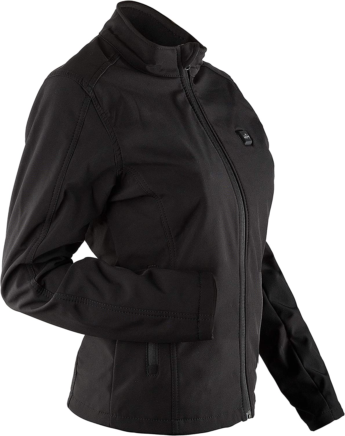 The Bikers Zone Womens Heated Soft Shell Jacket with 12V Battery   4 x Heating Zones & Padding