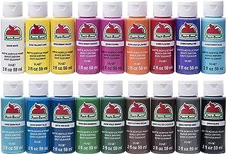 Apple Barrel Acrylic Paint Set, 18 Piece (2-Ounce), PROMOABI Assorted Colors I - Pack of 2