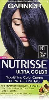 Garnier Nutrisse Ultra Color Nourishing Hair Color Creme, IN1 Dark Intense Indigo (Packaging May Vary)