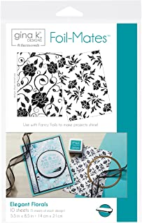 "Gina K. Designs for Therm O Web 18022 Foil-Mates Backgrounds, 5.5"" x 8.5"", Elegant Florals"