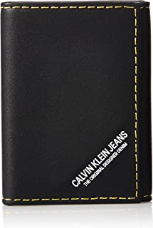 Calvin Klein Smooth stich Card Case Wallet, Black, 11 cm, K50K505268