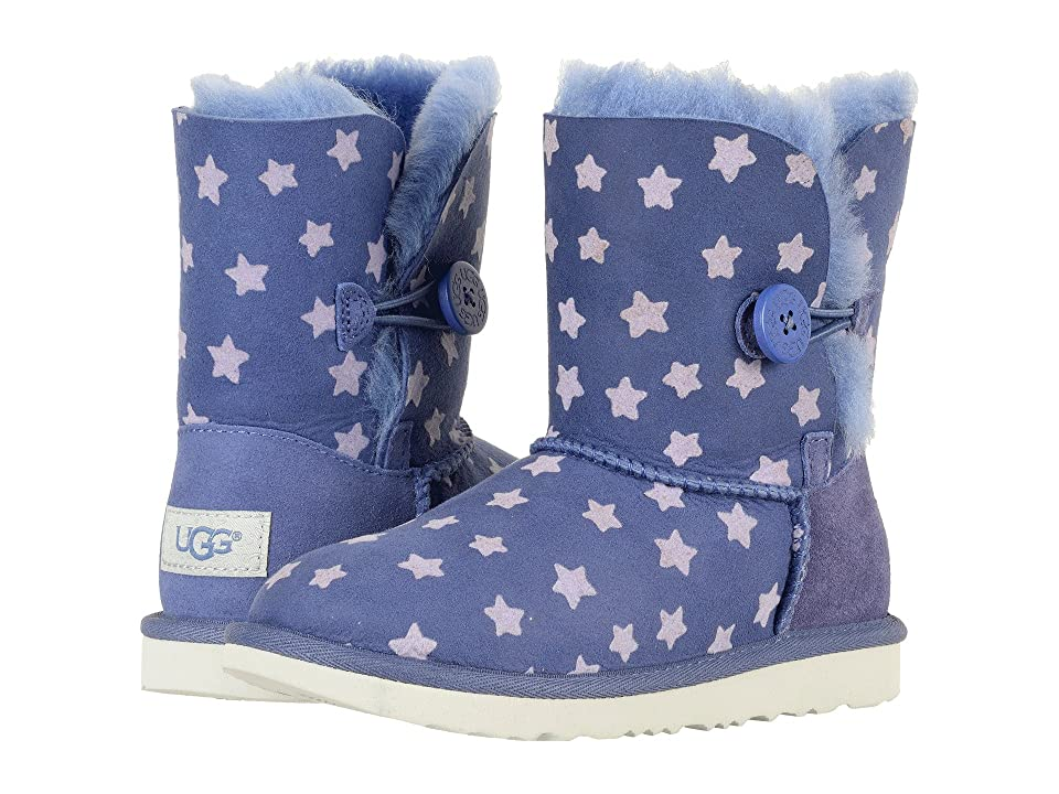 UGG Kids Bailey Button II Stars (Little Kid/Big Kid) (Nocturn) Girls Shoes