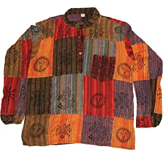 Men Bohemian Style t-Shirt, Lightweight Yoga top