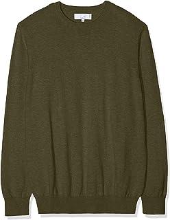 Tommy Hilfiger MW0MW04193-303 Cotton-Silk Zip Through Cardigan Uomo in Cotone e Seta Full Zip Verde Military