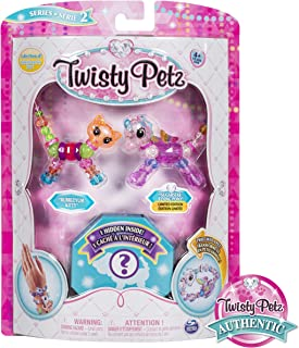 Twisty Petz, Series 2 3 Pack, Bubblegum Kitty, Sugarstar Flying Pony & Surprise Collectible Bracelet Set for Kids