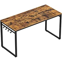 Deals on VASAGLE Computer 55-Inch Writing Desk w/8 Hooks