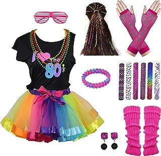 I Love 80s Rainbow Tutu Skirt Child Girl's Costume Accessories Set